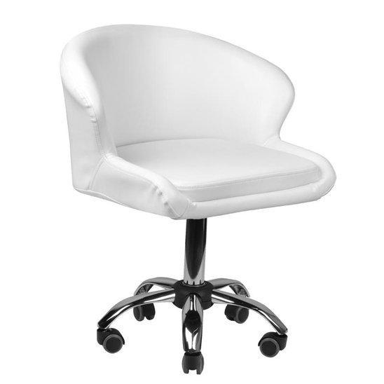 Krzesło Kosmetyczne Lady Białe Meble Kosmetyczne
